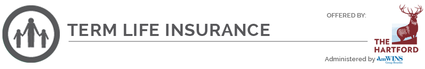 term life insurance icon and logo